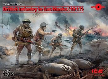 ICM35703  British Infantry in Gas Masks (1917) (4 figures)  1:35 kit