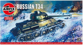 A01316  Russian T34 Medium Tank  1:76 kit