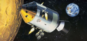 RE3703  Apollo 11 Spacecraft with Interior  1:32 kit