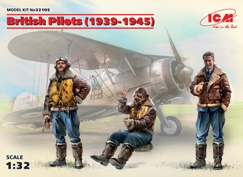 ICM 32105  |British Pilots (1939-1945) (3 figures)  1:35 kit
