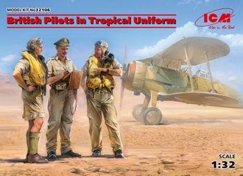 ICM32106  British Pilots in Tropical Uniform (1939-1943)  1:32 kit