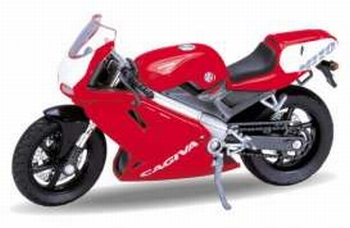 12163  Cagiva Mito (rood/wit)  1:18