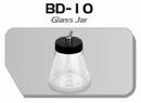 BD10  Glazen verfpotje met deksel + aansluiting kort Fengda® 88 ml