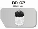 BD02  Glazen verfpotje met deksel + aansluiting kort Fengda® 22 ml