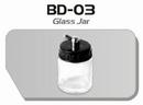 BD03  Glazen verfpotje met deksel + aansluiting kort Fengda® 22 ml