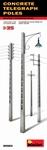 MA35563  Concrete Telegraph Poles 1:35 kit