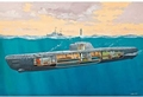 RE5078  Duitse U-Boot Typ XXI met Interieur 1:144 kit