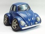 91705  Volkswagen Kever Spaarpot (Blauw) 14,5 x12x9cm